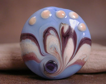 Lampwork Focal Bead, Artisan Glass, Focal Beads, Periwinkle & Purple, Divine Spark Designs, SRA
