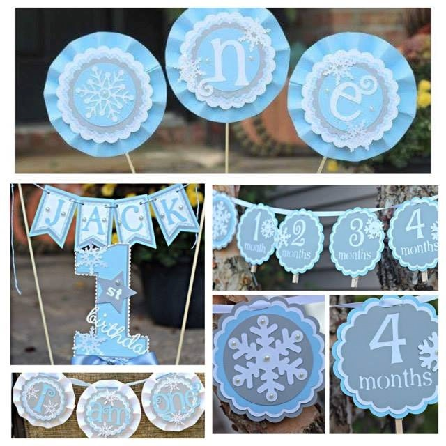 BOY WINTER ONEDERLAND Birthday Party Decorations Winter