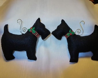 Scottie Holiday Ornaments