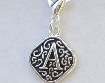 Vintage  Letter A  Dangle  Lobster Claw for Necklace - Bracelets - Key Chains