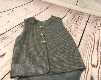 Vintage Wool and Corduroy Vest Size 2-3 years