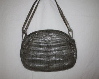 Grey Royal Croc handbag model