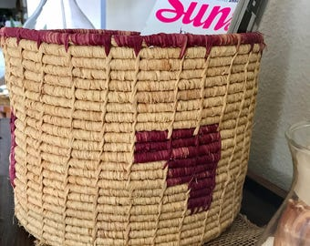 Awesome straw coil basket