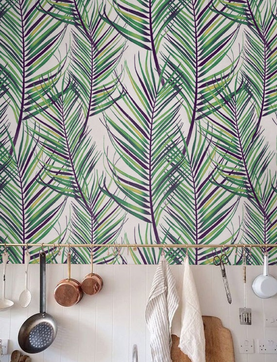 Jungle Leaves Wallpaper Removable Wallpaper Self Adhesive