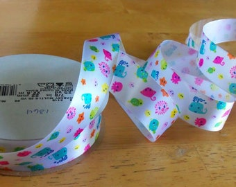 7/8 Inch Satin Sea Baby Ribbon