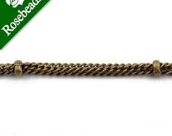 50 Meters 2.8MM Brass vintage Bronze Ball chain,Handmade-D1000