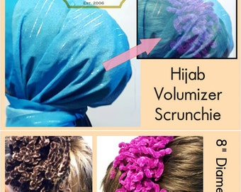 Large Hijab Scrunchie Hijab Tichel Volumizer | Handmade Flower Ring | Shabasa Fascinator | Hair Tie Bun (Hair Oranment for Khaleeji Scarf)