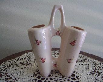 Vintage Double Sided Vase, Planter or Desk Caddy
