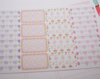 16 Planner Stickers Half Box Spring Flowers Planner Stickers eclp PS366f
