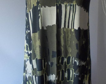 Fabric jersey pattern Khaki dress tunic blouse trousers skirt