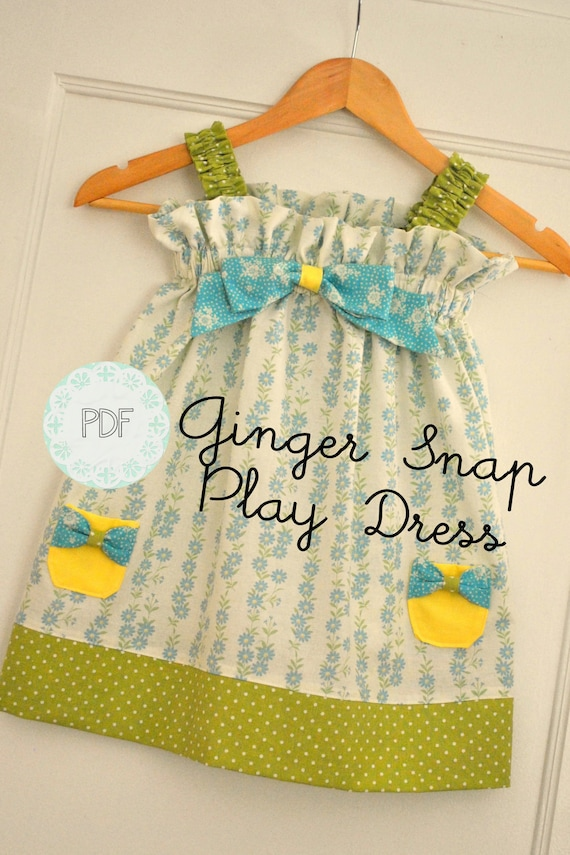Items Similar To Ginger Snap Play Dress Baby Toddler
