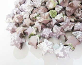 Final SALE 115 Dusty Lilac Origami Stars LAST SET