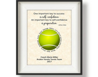 Tennis Coach Gifts - Personalized Tennis Coach Gift - Tennis Coach - Gift for Tennis Coach - Coach Gift - Coaches Gift Ideas - Tennis Quote