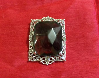 Sarah Coventry Brooch-Large stone