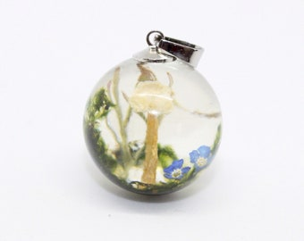 botanical jewelry, terrarium necklace, nature lover gift, eco resin jewelry, tree forest jewelry, woodland necklace, gift for her