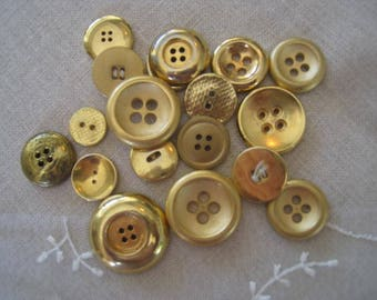 Gold metal and plastic sewing Sewing-6 - button