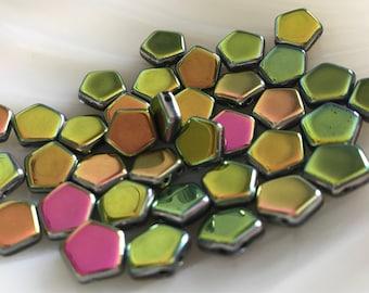 Pego Bead - 10mm - Crystal Vitrail Full - Czech Glass - 16 Beads - 00030-28100