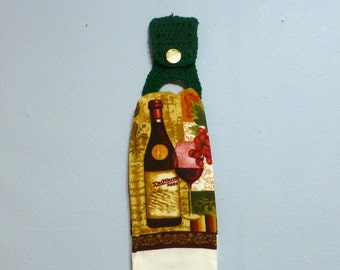 Full Size Kitchen Towel with Removable Towel Holder Wine