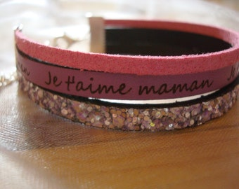 "Bracelet ""I love you Mom"" (in french)"