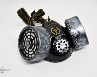 Silver Steampunk Mask | Steampunk Respirator | Gas Mask | Stalker mask | Dust Mask | Cosplay Mask | Halloween Mask