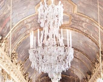 Versailles Photography, Glittering Light, Paris Art Print, Chandeliers, French Wall Decor, Large Wall Art