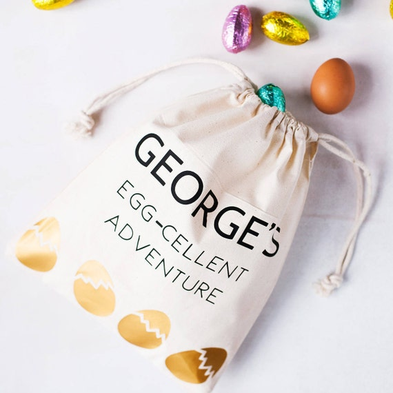 Personalised easter hunt egg bag easter egg hunt easter like this item negle Choice Image