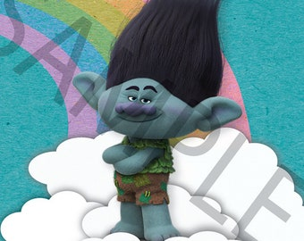 Trolls Rainbow Wall Art, Branch, 8x10, DIGITAL FILE ONLY