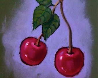 How To Use Oil Pastels - PDF Art Tutorial, Art Tutorial - Six Pages - See Sample Page - Best Materials - Red Cherries - Instant Download