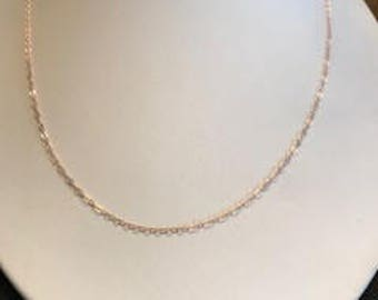 """Rose Gold-Filled Finished Chain 1.3mm 18"""""""