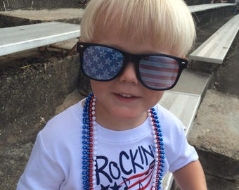 Rockin the Stars & Stripes Shirt / Personalized / Independence Day / 4th of July