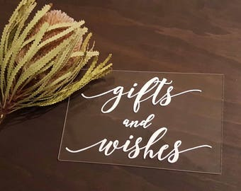 Gifts and Wishes | Cards and Gifts | Wishing Well | Custom  Acrylic Sign | Acrylic Wedding Sign | Acrylic wedding sign | wedding sign |