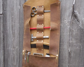 Leather Toiletry Roll