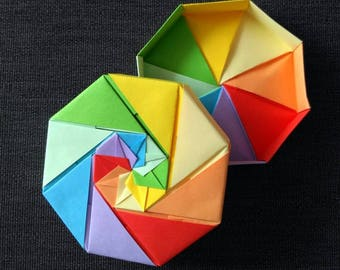 Origami Octagon Box (16 square papers)