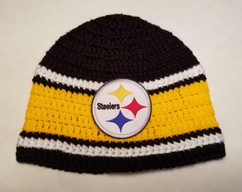 bc7337696cc ... discount pittsburgh steelers nfl football team beanie pittsburgh  steelers nfl football team beanie crochet newsboy hat
