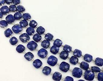 "Lapis Lazuli Checker Beads 6-7 mm (ONE 8"" Strand)"