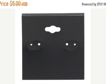 TAX SEASON Stock up 50 Pack Black Hole Top Large 2x2 Inch Plastic Hanging Earring Cards