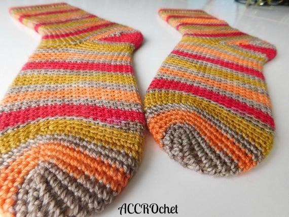 Dobby - Crochet Sock Pattern - Self Striping Sock Crochet Pattern ...