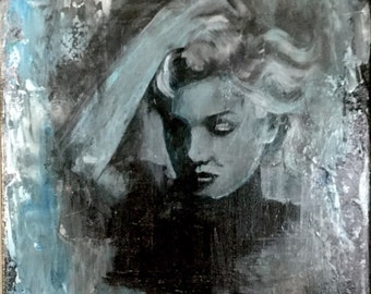 Marilyn Monroe Contemporary abstract realism figurative original painting