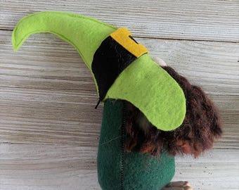 Next Day shipping, St. Patricks Day, Irish, Irishman, leprechaun gnome, forest gnome, woodland gnome, Nordic gnome, shamrock, ides of march