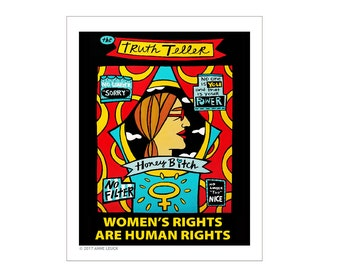 Womens Rights March 2017 Poster Art 8x10 Fine Art Print by Anne Leuck