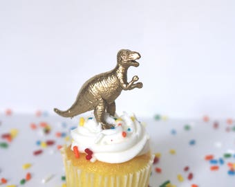 Custom mini Dinosaurs -Set of 12/ Cupcake Toppers/ Party Favors/ Dinosaur Cupcake Toppers/ Party Decor/ Birthday/ Cake Toppers