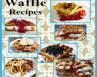 85 Waffle Recipes E-Book Cookbook Digital Download