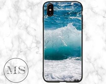 Ocean, Waves, Sea, Water, iPhone X case, 8, 8 Plus, 7, 7 Plus, 6s, 6s Plus, 6, 6 Plus, blue, landscape, nature