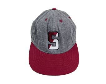 STANFORD SNAP BACK  stanford university cap Stanford college hat stanford baseball cap trucker hat grey cardinal college Vintage One Size