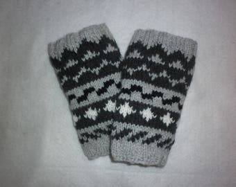 Leg warmers gaiters knitting 100% hand-made in France black white grey gray patterns all size options