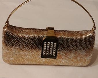 Small gold-coloured evening purse