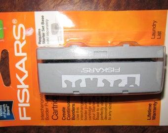 Fiskars LAUNDRY LIST Interchangeable Border Punch Cartridge NIP 03-016754r2