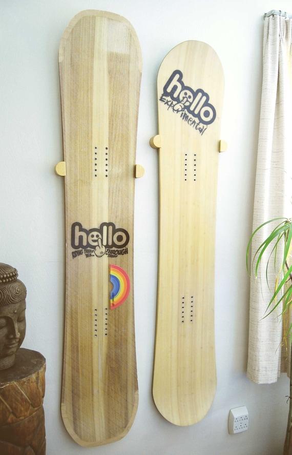 Snowboard Wall Mount / Hanger Wall Hangings Shelves Home Decor