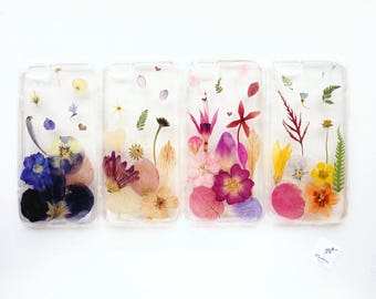 Choose your colour! Phone case with real pressed flowers