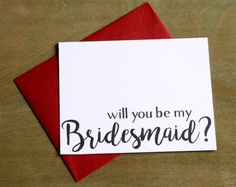 Will you be my Bridesmaid? Greeting Card Note Card - Maid of Honor, Matron of Honor, Bridesmaid Ask Card with Metallic Envelope